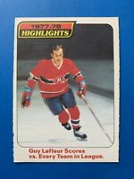 Guy LaFleur 1978-79 #3 Highlights O-Pee-Chee Hockey Card OPC Montreal Canadiens