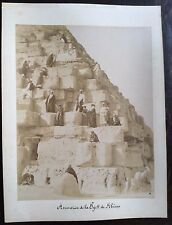 Kheops pyramide Keops photographie albumine albumen vintage c. 1880