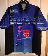 XL NHRA PRO STOCK RODGER BROGDON Pit Crew Shirt Drag RACING PINK PANTHER Texas