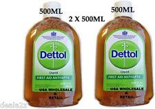 2 X 500ml Dettol liquid Antiseptic first Aid Detol USA SELLER Lowest Price USA S
