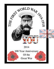 Large A3 World War 1 Anniversary Poster 100 Year Centenary commemorative Edition