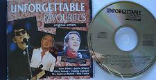 UNFORGETTABLE FAVOURITES _ CD ALBUM _ Jackie Wilson + Gene Pitney + Roy Orbison
