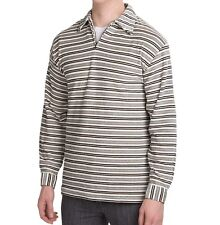 Turning Point - Mens S - Retro Inspired Striped Zip Collared Velour Shirt