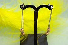 Orecchini lunghi pendenti 750 ORO BIANCO 18 KT nuovo pezzo unico + cattura sguardi