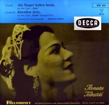 """7"""" RENATA TEBALDI Als Sieger kehre heim VERDI Aida / Juwelen-Arie DECCA EP 1956"""