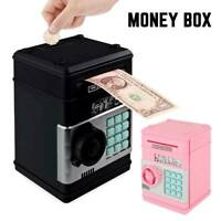 Mini Automatic Password ATM Piggy Bank Safe Money Cash Box Coin Saving Kid Gifts