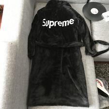 Supreme Logo Bathrobes Flannel Robe Sleepwear Home Wear Pyjamas Gown Blanket