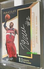 2014-15 IMMACULATE STATISTICAL STANDOUT AUTO: JOHN WALL #13/49 AUTOGRAPH WIZARDS
