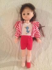 """Vogue Ginny VTG 1977 8"""" Doll Red Stripped Duck Outfit"""