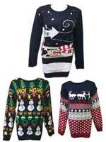 Christmas Xmas Knitted Jumper Sweater New Mens Womens Ladies Unisex  Novelty