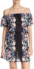Nanette Lepore Women's Black Floral Beach Cover-Up Sz XS NWT $140
