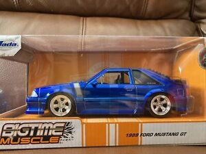 Jada Bigtime Muscle 1989 Ford Mustang GT Blue 1/24 Scale Fox Body