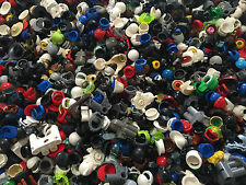 LEGO - Minifigure Hat Lot of 25 Hats Helmets Hair Great Variety