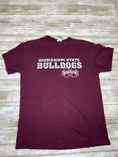 New listing Mississippi State Bulldogs University T Shirt Adult Medium Maroon Crew Neck