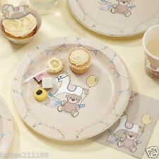 baby shower party Rock A Bye Baby 8 rocking horse & teddy bear paper plates