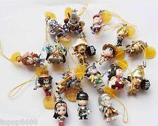 "#CU6~ lot of 17 bandai One Piece  phone bag Strap pandant mini figure 2"""