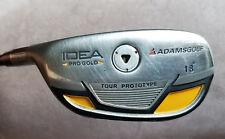 Adams IDEA Pro Gold 18* Hybrid VooDoo Svs8 Aldila Stiff Shaft Avon Grip LH
