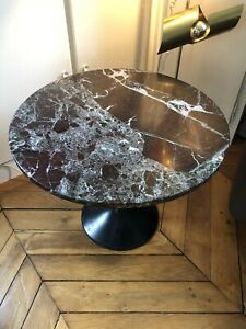 Table Marbre 70 Type Saarinen knoll