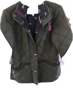 Ladies JOULES Khaki Green Padded Quilted Jacket Coat Size 10