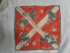Scottie Scotty Dog Child's Jack And Jill  Illustrated Margery Daw  Handkerchief
