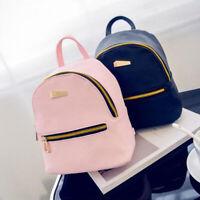 Women Faux Leather Mini Backpack Travel Handbag Girls School Rucksack Bag Newl