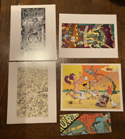 Discontinued/Rare Set of 4 Futurama Postcards Paper Seal Intact
