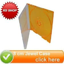 100 Orange 8cm Disc Disk Jewel Case for CD-R DVDs DVD