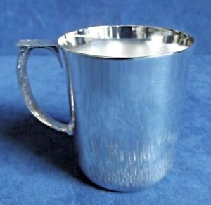 SUPERB ~ SILVER Plated ~ Child's TANKARD Cup ~ c1960