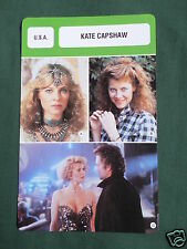 KATE CAPSHAW - MOVIE STAR - FILM TRADE CARD - FRENCH