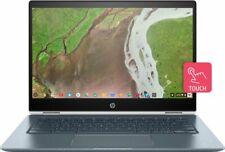"New HP x360 14"" 2-in-1 Touchscreen Chromebook/Intel i3/8GB/64GB eMMC/Blth/White"