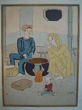 LEONARD TSUGUHARU FOUJITA 藤田 嗣治 1928 5 ORIGINAL LITHOGRAPH ORIENTALISM 1/97 LTD!