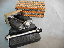 """Vintage Raleigh Bicycle Phillips steel 4"""" pedal 9/16"""" Axle 1950s NOS"""
