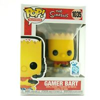 FUNKO POP ANIMATION GAMER BART THE SIMPSONS GAMESTOP EXCLUSIVE 1035