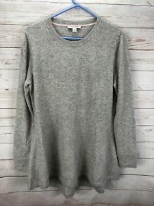 Isaac Mizrahi Live Cashmere Gray Sweater Size M Long Sleeve Women's DAMAGED!