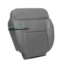 2004-2008 Ford F150 Lariat FX4 FX2 F-150 Driver Bottom Leather Seat Cover Gray