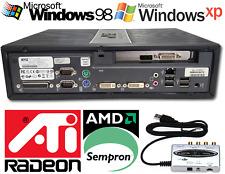 Windows 98 / XP Retro Gaming PC - Sempron CPU, PCIe Radeon, 2GB Ram, 16GB SSD