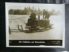PHOTO 1939/45 : DIE FELDKÜCHE AUF SCHNEEKUFEN - FOTO ATLANTIC