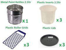 Bollitore Vernice, stagno, secchio, inserire in plastica, Coperchio, Griglia a rullo, PITTURA DECORAZIONE