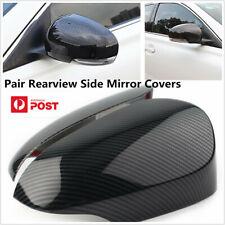 Glossy Carbon Fiber Look Mirror Cover Trim For 2014-2018 Toyota Corolla Sedan AU