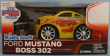 Ford Mustang Boss 302 Yellow Full Function 27MHz Radio RC Control Car Ages 6+