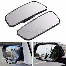 2Pcs Black Car Universal Rearview Adjustable Wide Angle Rear Blind Spot Mirror