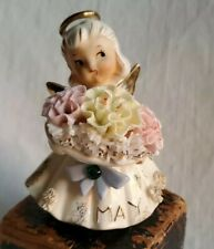 Vintage Lefton May Angel w/label Excellent Condition ☆Pretty
