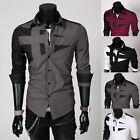 Fashion New Men Luxury Casual Slim Fit Stylish Long Sleeve 5Colors Dress Shirts