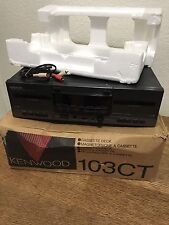 Vintage Kenwood 103CT Dual Tape Stereo Cassette Recorder Player In Box