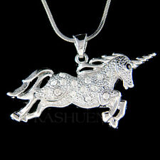 ~UNICORN~ made with Swarovski Crystal Magic Fairy HORSE Magical Necklace Jewelry