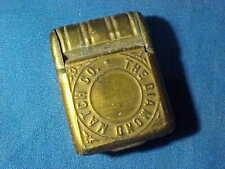 19thc DIAMOND MATCH Co Brass CIVIL WAR Soldiers BACKPACK Figural MATCH SAFE