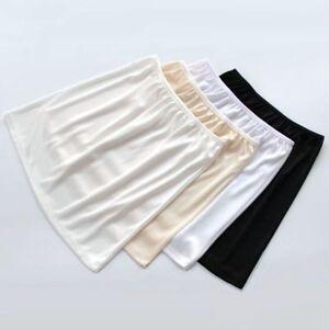 Women Polyester Shirt Extender Half Slips Skirts Underskirt Short Petticoat