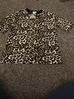 Leopard Print Womens Top Size Large New With Tags