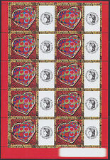"""2006 Bloc FRANCE N°3861A** FEUILLE PERSONNALISEE Coeur St-Valentin Logo """"CERES"""""""