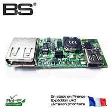 Chargeur batterie lithium 18650 + boost dc-dc step up 5V 1A elevateur